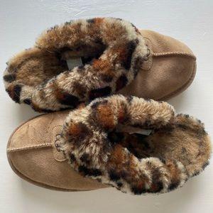 Ugh slippers. Cheetah animal print slippers